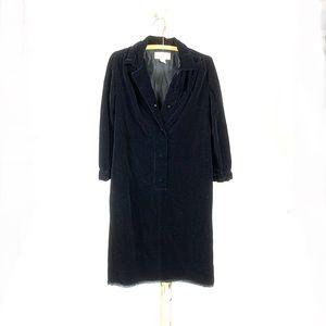 Vintage Black Velvet Oversized Dress